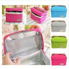 Portable Lunch Box Tote Cooler Bag Bento Pouch Food Drink Container 4 Colors