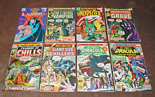 (8) Chamber of Chills #2, Tomb of Dracula, Horror Comic Lot Vampires Unexpected