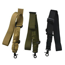 Tactical 1 Single Point Adjustable Bungee Rifle Gun Sling System Black Strap 1x