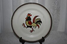 Lot of 2 Metlox poppytrail red rooster dinner plates