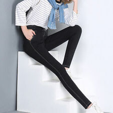 Womens Casual Comfortable Cotton Pencil Pants Washed Trousers Skinny Leggings