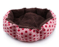 New Cute Pet Dog Puppy Cat Soft Flannel Warm Bed House Plush Nest Mat Pad Hot FY