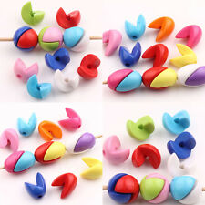20Pcs Mixed Acrylic Splicing Candy Color Loose Spacer Beads Jewelry Findings
