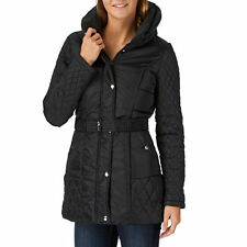 VERO MODA SIZES 8 10 14 QUALITY BLACK QUILTED BELTED FITTED COAT @ NEXT BNWT
