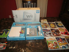 nintendo wii console in the box large game lot 10 games and wii game bag
