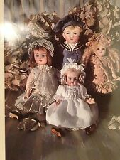RARE COLLECTION  PATTERNS 4  FRENCH GERMAN ALL BISQUE MIGNONETTE 13-22 cm DOLL
