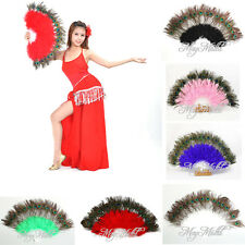 Belly Dance Wedding Quinceanera Costume Shower Party Favor Hand Feather Fan XT び