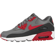 Nike Air Max 90 Leather GS shoes grey red Trainers 833412-007 Skyline Command BW