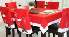 Christmas Table Decorative Tablecloth Chair Seat Cover Wine Skirt Tableware Bag