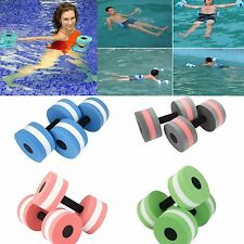 2X Water Aerobics Dumbbell MEDIUM Aquatic Barbell Aqua Fitness Pool Exercise Hot