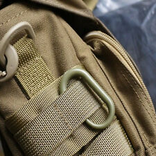 5Pcs Locking U-Ring Carabiner Buckle Keychain Ring For MOLLE Webbing Backpack