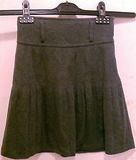 Popsy Kids Girls Clothing Skirt Size 7 Size12 Gray Mid Calf A Liner Lined Dressy