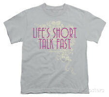 Youth: Gilmore Girls - Lifes Short Apparel Kids T-Shirt - Silver
