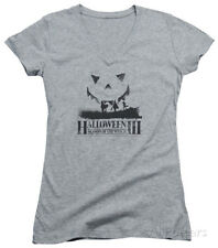 Juniors: Halloween III - Silhouette V-Neck Juniors (Slim) T-Shirt - Heather
