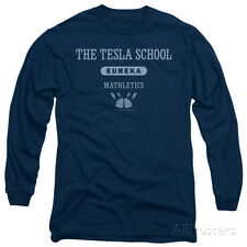 Long Sleeve: Eureka - Tesla School Apparel Longsleeve Shirt - Navy