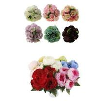 1x Artificial Rose Flowers Silk Bouquet Bridal Home Wedding Vase Decor DIY