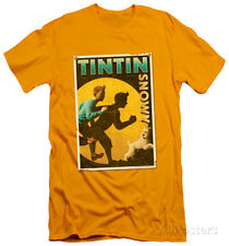 The Adventures of Tintin - Tintin & Snowy Flyer (slim fit) T-Shirt - Gold