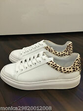 ZARA WHITE LEATHER CASUAL SNEAKERS SHOES SIZE EUR 40 EUR 41
