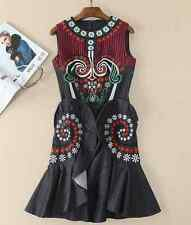 2017 embroidery sleeveless cowboy dress designs uniquely makings pretty party