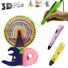 1st 2nd 4th GEN 3D Printing Pen ABS Filament Arts Craft Drawing Modeling Printer
