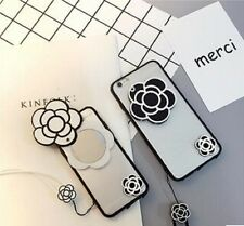New Camellia Flower TPU with a mirror For iPhone 6/6S Plus iPhone Case Cover Hot