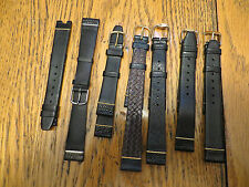 New Old Stock GIVENCHY LeJour Leather Watch Bands Black Blue Paris Austria Swiss