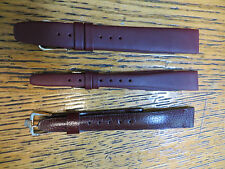 New Old Stock LeJour Burgundy Leather Watch Bands Pierre Cardin Austria Nice