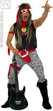 MENS 70s 80s ROCK BAND POP STAR FANCY DRESS GLAM PUNK COSTUME 7PC OUTFIT NEW