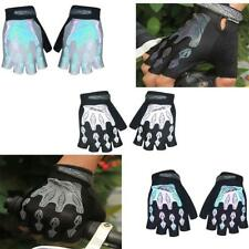 Outdoor Bike Bicycle Cycling Gel Pad Reflective Half Finger Fingerless Gloves