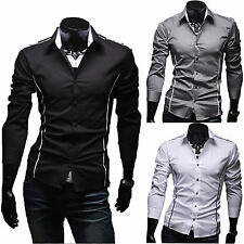 Luxury New Fashion Mens Slim Fit Shirt Long Sleeve Dress Shirts Casual Shirt Top