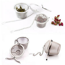 Stainless Steel Mesh Ball Tea Leaf Strainer Infuser Filter Diffuser FT