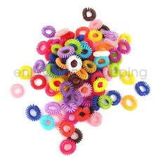 100pcs Colorful Elastic Rubber Hair Ties Band Rope Ponytail Holder Girls Kids