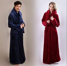 Men's Or Women's Chic Vintage Bathrobe Robe Longue Robe Rouge Robe Femme