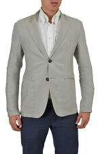 "Emporio Armani ""Johnny Line"" Men's Beige Two Button Blazer US 40R 42R 44R 46R"