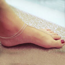 Toe Ankle Bracelet Anklet Chain Link Foot Jewelry Beach Barefoot Sandal Anklet