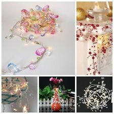 2PCS Colorful Crystal/Pearly 10LEDs Garland String Fairy Lights Battery Operated