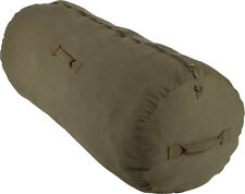 Olive Drab Cotton Canvas Side Zipper Sports Gym Traveling Duffle Bag