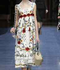 J occident runway Retro palace Hollow embroidery pretty women dress vintage cute