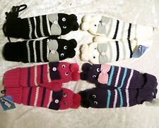 Cute Fashion Boy's Girl's Womens Winter Knit Gloves Warmer Mittens Finger Gloves
