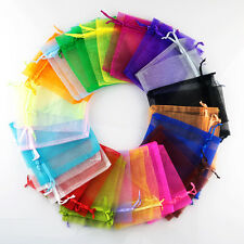 50PCS Sheer Organza Wedding Party Favor Gift Candy Bags Jewelry Pouches Craft