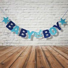 BABY Boy Girl Hanging Bunting Banner Garland Baby Shower Vintage Party Decor