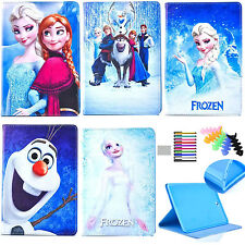 frozen cartoon protective case for iPad Air1st Generation pu leather stand cover