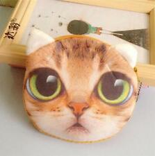 New Hot! Children Cute Cat Face Tail Coin Purse Kids Wallet Bag Change Key Holde