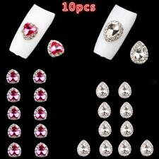 10pcs 3D Nail Art Glitter Gem Crystal Rhinestones Tips Decoration DIY Charms