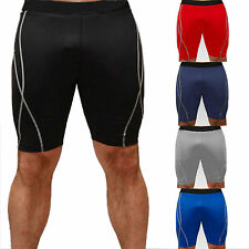 Mens Spandex Sports Shorts Gym Stretchy Skinny Casual Short Trouser Pants Boxing