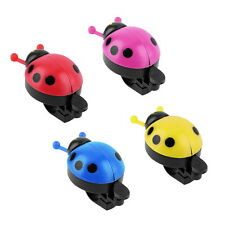 Lovely Kid Beetle Ladybug Ring Bell For Cycling Bicycle Bike Ride Horn Alarm ZW