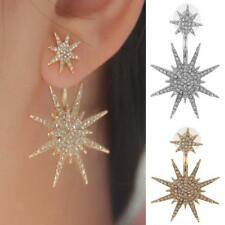 1Pair Women Lady Crystal Rhinestone Dangle Star Ear Stud Earrings Jewelry