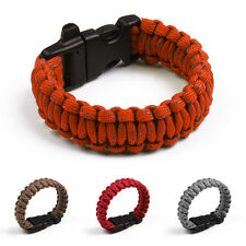 Bracelet with Whistle Gear Kits Outdoor Rope Paracord Survival Reflective Rope