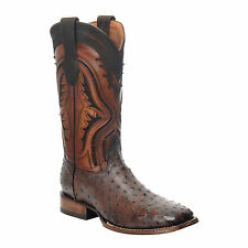 1E56A1 Ostrich Rodeo Western boots made by Cuadra boots