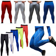 Men Running Sports Compression Pants Fitness Soccer Pant Leggings Athletic Wear